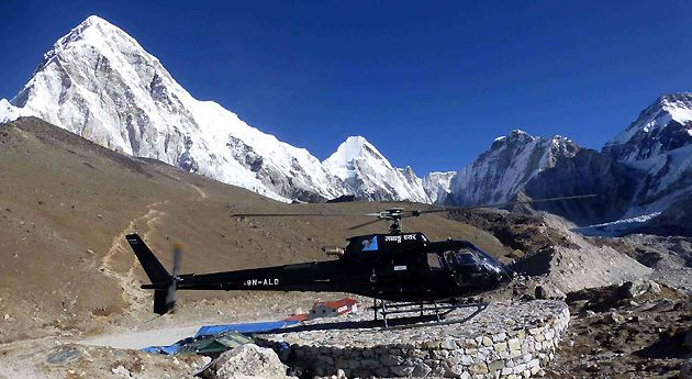 helicopter ride to kailash mansrovar